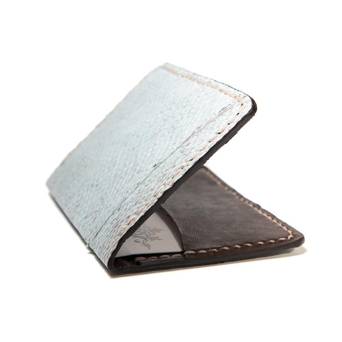 Slim Jim Cod fish leather card wallet