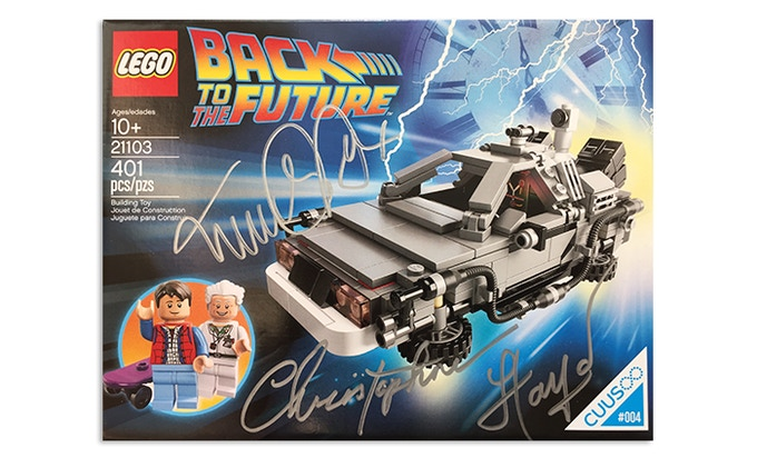 Michael J Fox and Christopher Lloyd Signed CUUSOO Legos