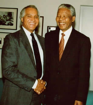 Dr. Joseph Kennedy and Nelson Mandela