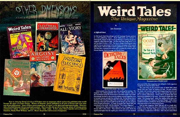 Even complete coverage of magazines such as WEIRD TALES