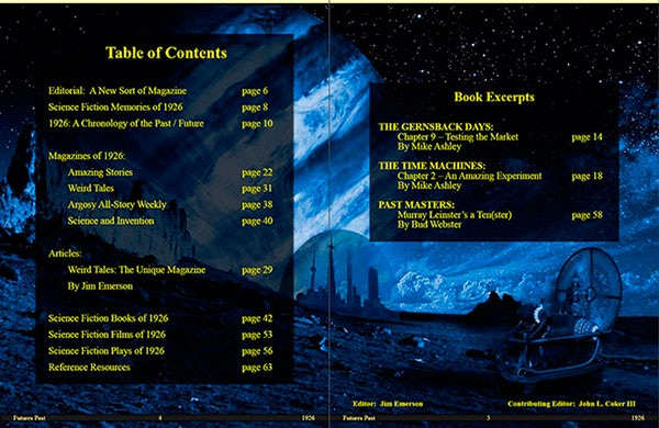 Table of Contents page from the premiere issue