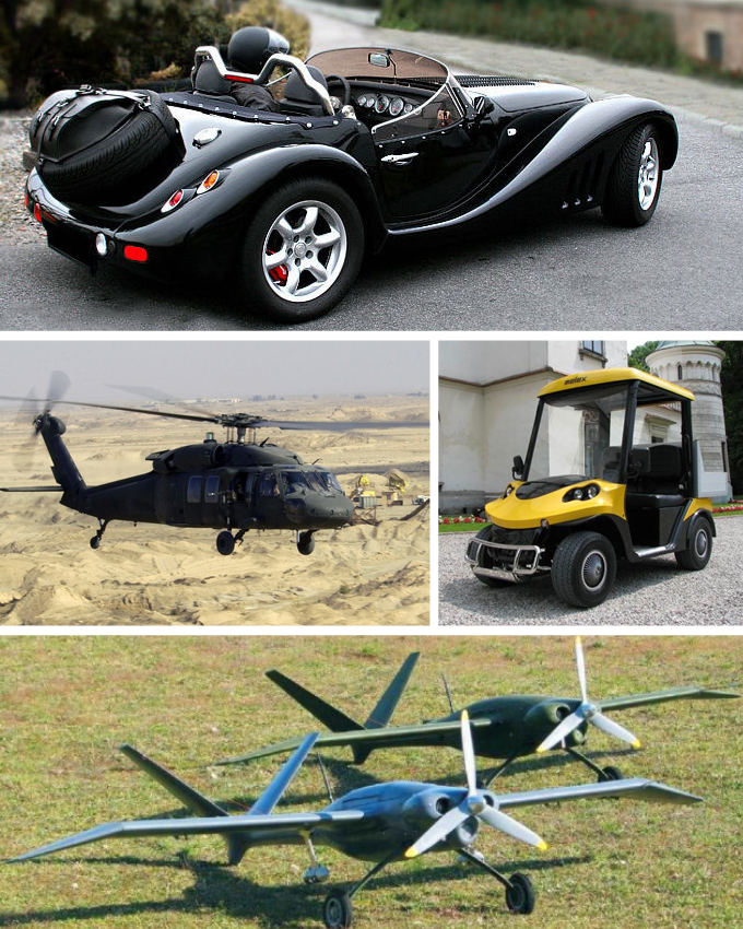 Some of the vehicles manufactured in Mielec, Poland.