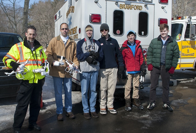 Ryptide Team with Peter Sachs & Chief Shaun Heffernan of the Branford CT Fire Department