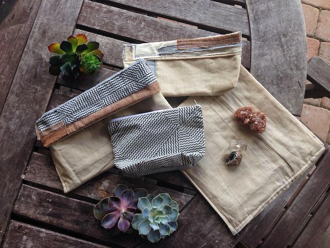 Prototypes in khadi [handwoven fabric].