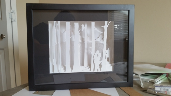 8x10 Sculpture matted and framed in an 11x17 shadow box.