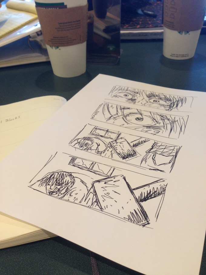 Storyboarding from illustrator Alex Tisdale