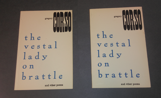 First editions of Corso's Vestal Lady on Brattle (1955)