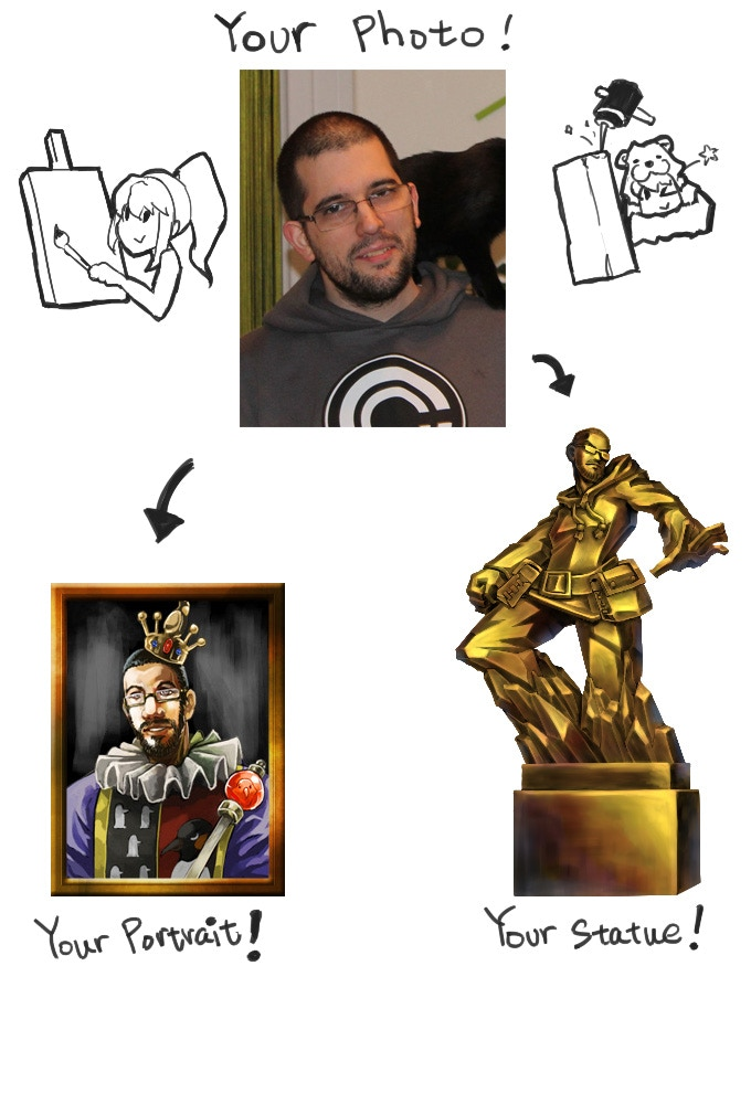 your own portrait or statue!