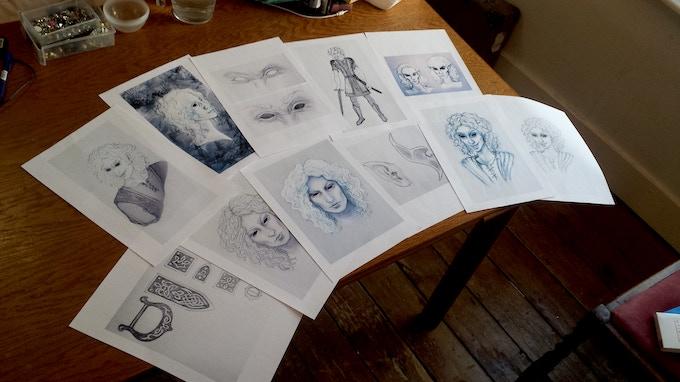 a selection of art/concept design