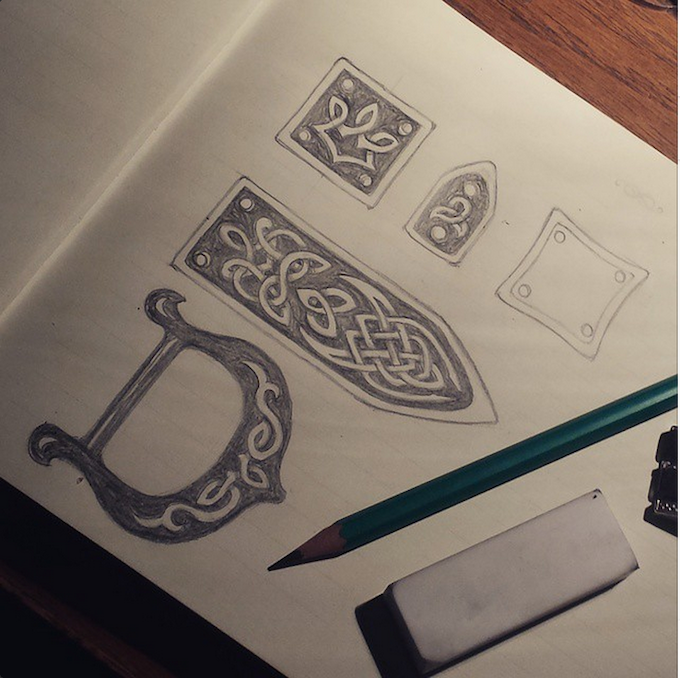 design for the belt pieces