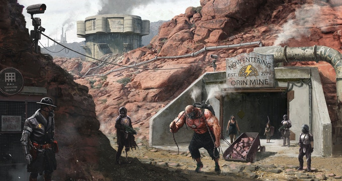 Welcome to Orin Settlement, a FerrumSky Mining Facility. Concept art by Filip Dudek.