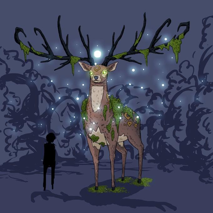 Deer demigod concept art
