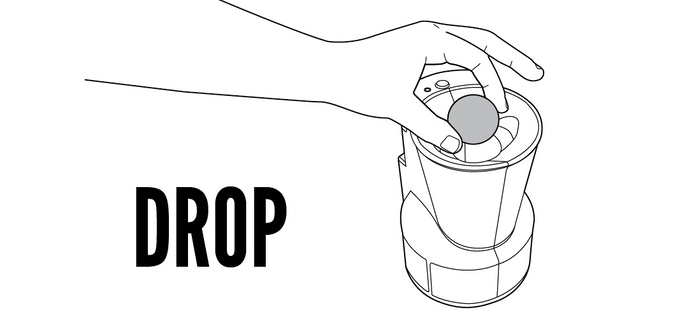 At any point during your beer pong game when you find yourself needing a quick rinse, just drop a dirty ball into the top of The Clean Cup™.
