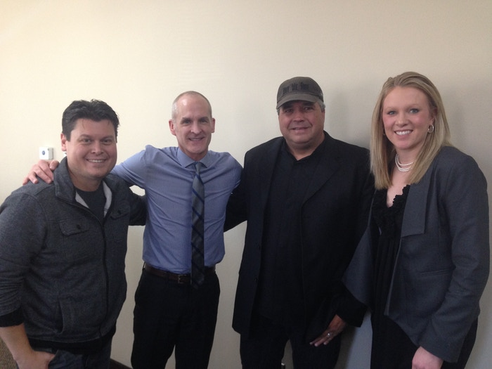 (Left to Right) James Walker, James D. Hagen (Secretary, South Dakota Department of Tourism), Bryan H. Carroll, & Katlyn Richter (South Dakota Film & Media Relations Representative)