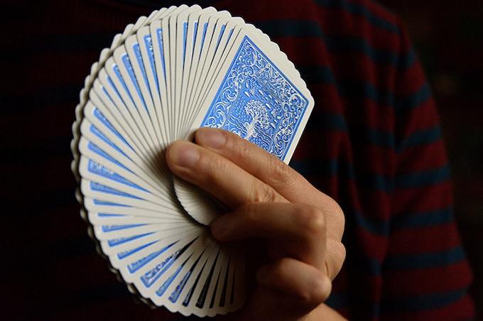 Card fanning