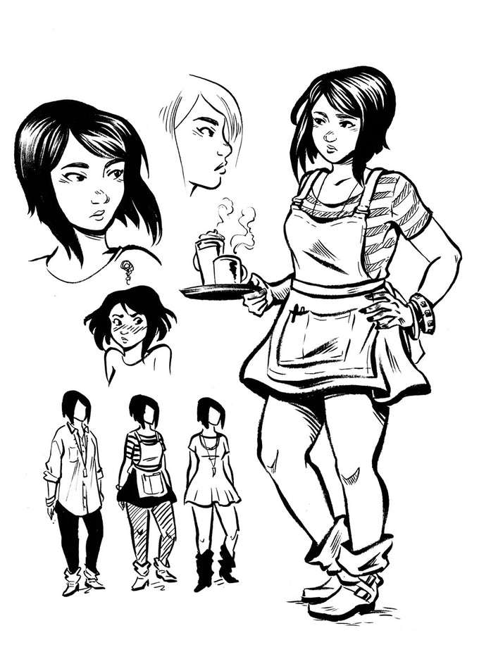 Character designs by Sally Jane Thompson