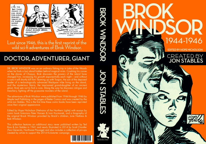 Lost since 1946, this is the first reprint of the wild sci-fi adventures of Brok Windsor: Doctor, adventurer, and giant.