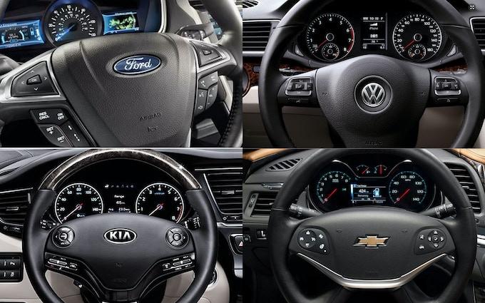 Ford, Volkswagen, Kia and Chevrolet have CrossTap ready steering wheels