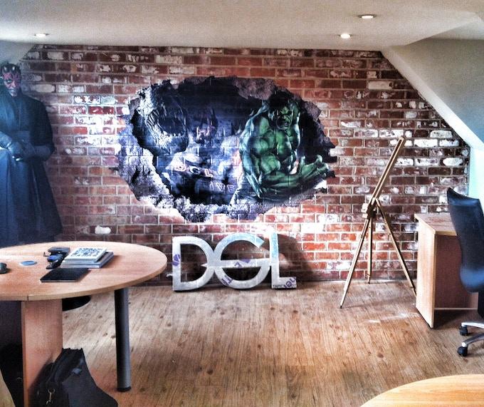 Here's my design studio which showcases my love of movies