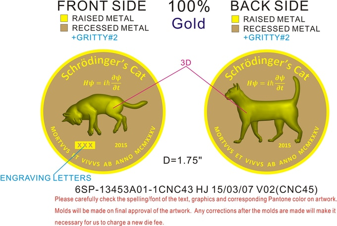 Reward coin art from the minter.