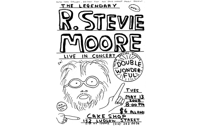 Poster for RSM 2008 show at the Cake Shop, designed by David Shrigley