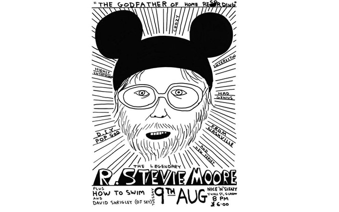 Poster for RSM's show at Nice'n'Sleazy in Glasgow, also designed by David Shrigley