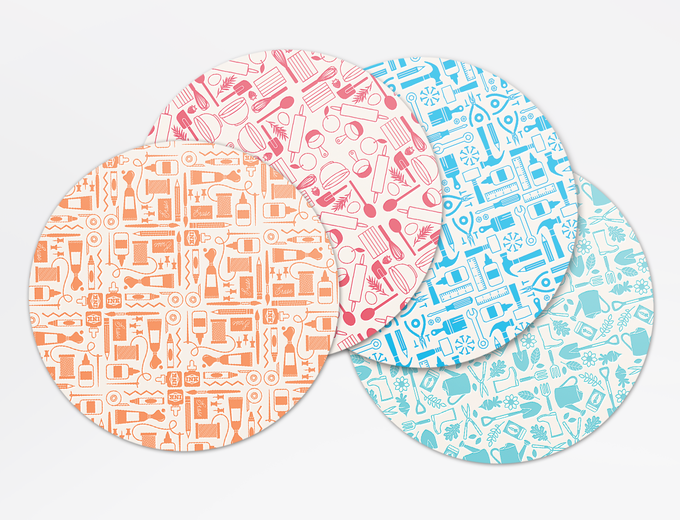 Letterpress Coaster Set