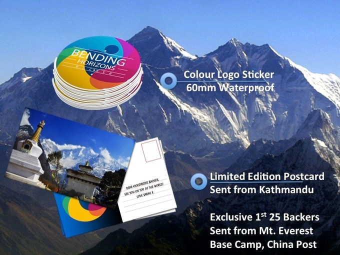 ∆ Colour Supporter Sticker Set 3 x 60mm Waterproof ∆ Limited Edition Postcard from the artist sent from Kathmandu