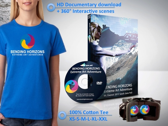 ∆ Final HD Documentary and 360° Interactive Download ∆ 100% Cotton Tee (M/W) XS-S-M-L-XL-XXL