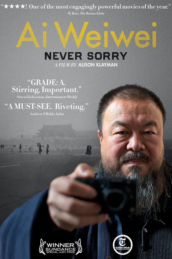AI WEIWEI: NEVER SORRY is the first feature-length documentary about China's (in)famous artist and activist, Ai Weiwei.