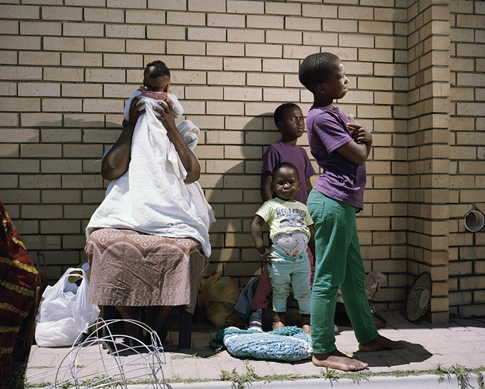Sylvia and Children, Dunoon, Cape Town 2014