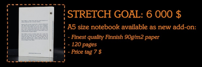 Backers request #2: A5 size 120 page notebook.