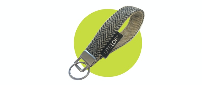 Litelok® herringbone tweed wrist keyfob