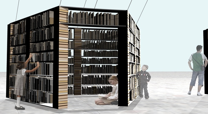 Books will be removed from Lacuna's walls and taken home. Every book is available, and all books are totally free.