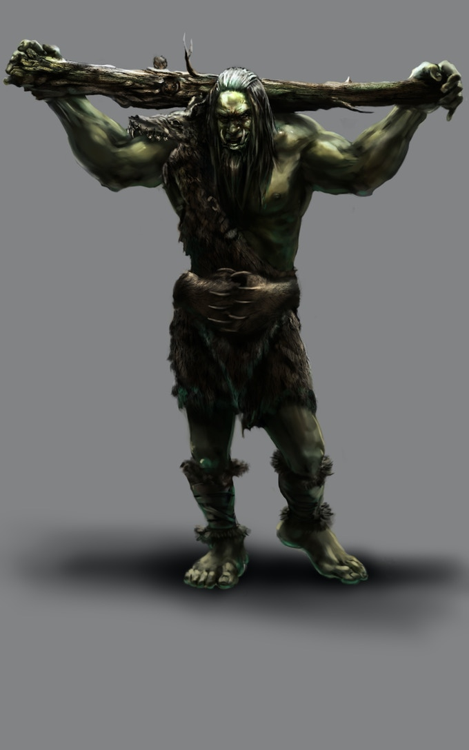 Ogres are a player race in this game. Big, strong and sometimes shaky personal hygiene.