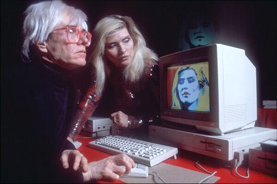 Andy Warhol and Debbie Harry