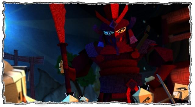 The Dark Shogun epic enemy origami