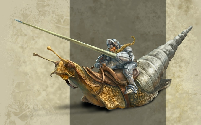 Coursing snails are the fastest of all known snails and the preferred mount of dwarves.