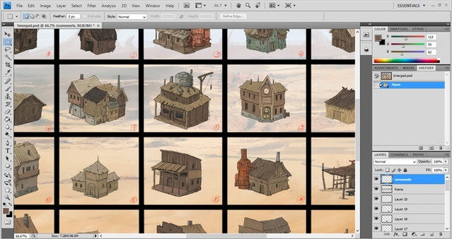 some of the town assets we've been working on