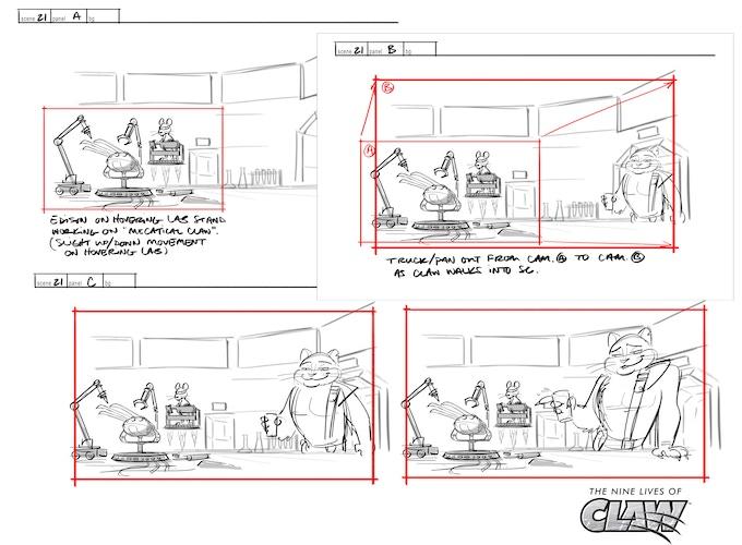 Storyboards for Episode 1 in progress