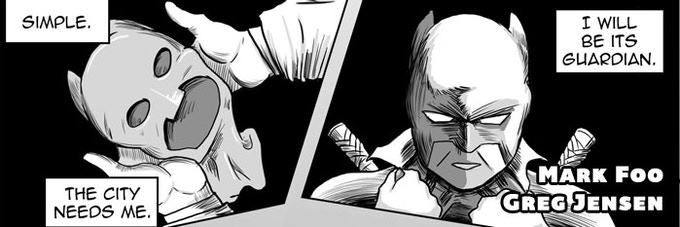"""""""Hero."""" A concerned citizen takes the law into his own hands. Criminals: fear the sting of the quills of justice!"""