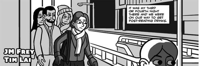 """""""Toronto the Rude."""" A short comic comparing the brusque but good-hearted masses of New York against the polite but cold Toronto crowd, as the author travels on a difficult TTC trip."""