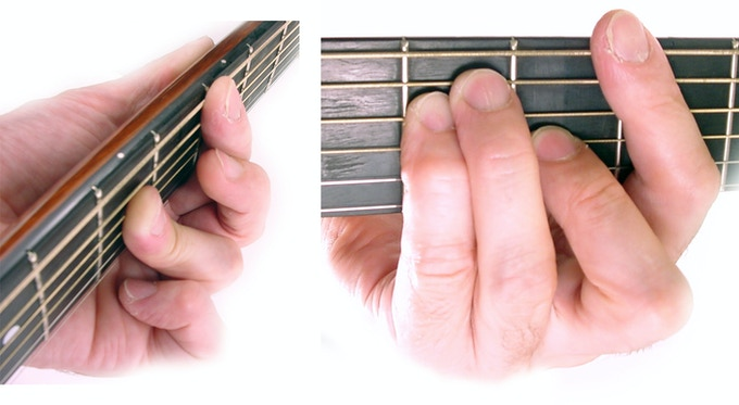 Hand Chord plays the bar chords the most common chord used in pop, rock and country