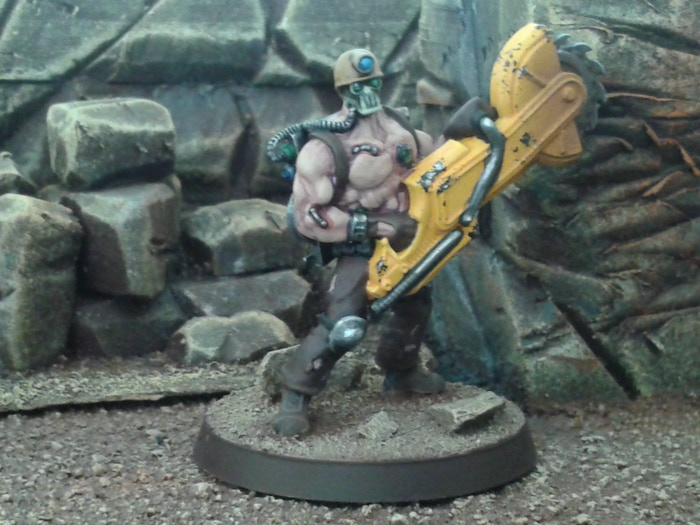 This is one of the models in the set: Trest - the Gen-Mod Brute. (Note: All models are provided unpainted.)