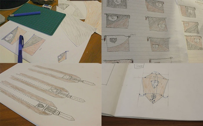 Initial Sketches: Over 20 Different Versions
