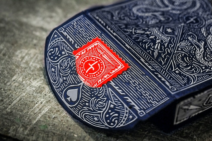 Blood Red Perforated Tax Stamp Seal