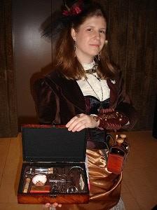 Christine as an apothecary