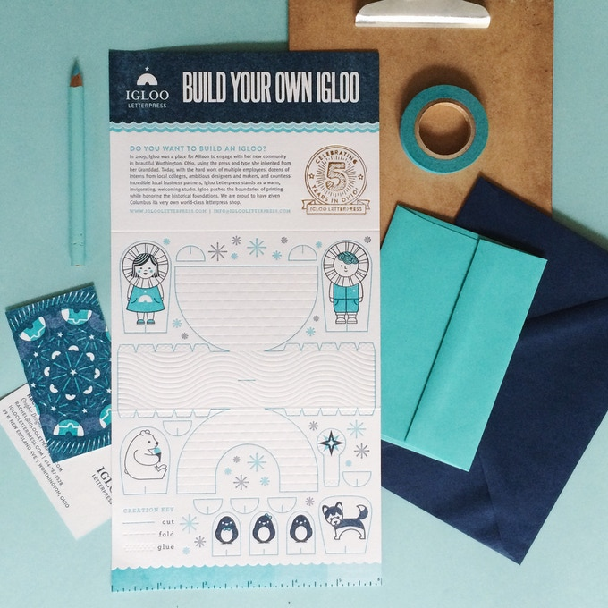 Igloo Tri-Fold Pop-up Card