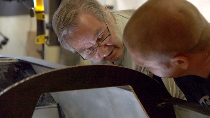 Still frame from antennaFILMS / Scott B and Sandy Guthrie's Looking Up, Way Up! the Burt Rutan Story