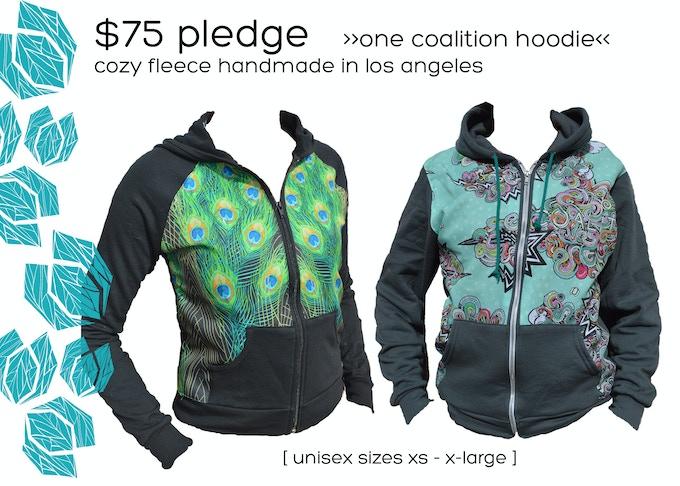 $75 Pledge     Panel Hoodie     Collaboration with Apliiq